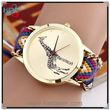 Ladies gold watch top brand low price for latest geneva knitted vogue lady watch