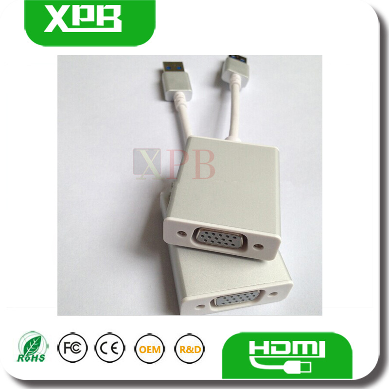 USB 3.0 Male USB TO VGA Female Adapter