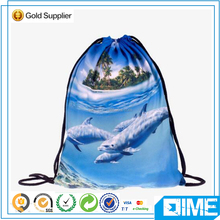 Popular Selling Nice Pattern Printed Polyester Drawstring Backpack