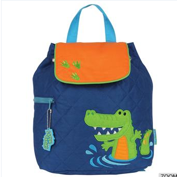 Lovely backpack crocodile pattern A child with
