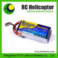 High discharge rate 25C 14.8v 16000mah 4s RC battery for uav drone helicopter