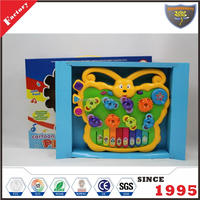 Hot sale education children electronic butterfly organ toy with light & music