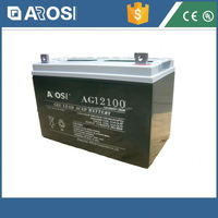 Arosi best price 12v 100ah solar battery scrap lead for sale