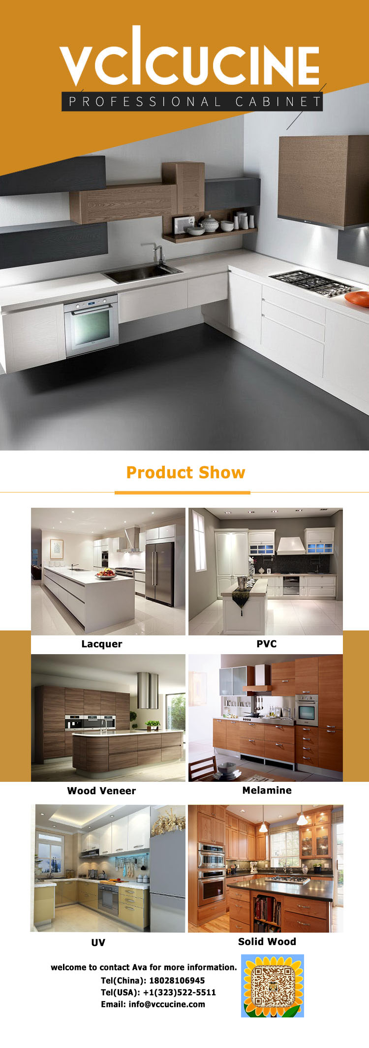 American project customized modern kitchen cabinets from foshan furniture factory factory