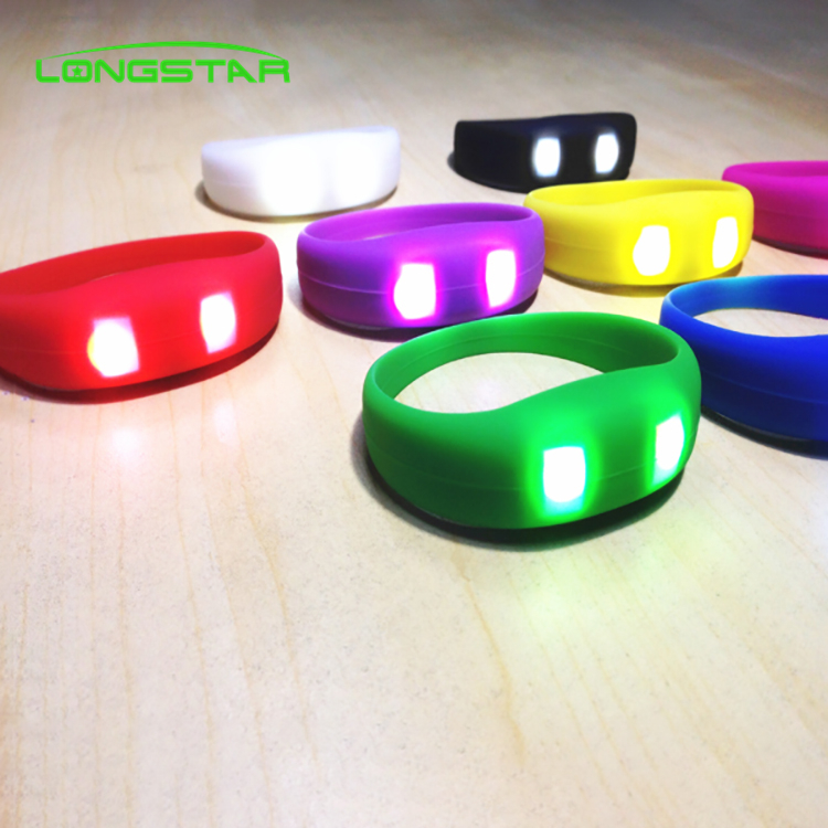 Hot Sale Silicone Wristband Glow LED Bracelet Custom Wedding Party Bracelet