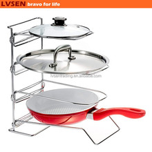 adjustable sled metal 4 tier kitchen pot rack