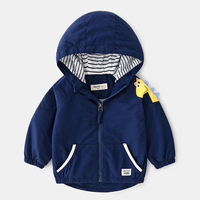 high quality Fashion Baby Outwear Dinosaur Hoodies Coat Children Jacket Boys Spring Autumn Sweatshirts zipper Windbreakerr