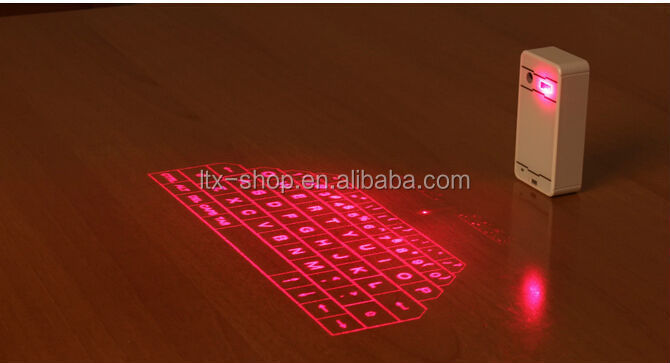 USB Mini Wireless Projection Virtual Bluetooth Laser Keyboard for Smart phone PC Tablet Laptop
