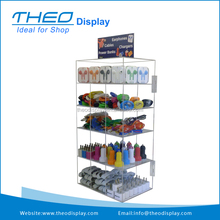 Freestanding Glass Mobile Phone Accessories Retail Store Display Rack