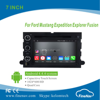 "7"" 2Din Android 4.4.4 Car DVD player with Quad-core HD 1024*600 Resolution 16GB Flash Mirror Link for Ford Mustang"