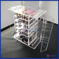 China manufacturer acrylic make up cosmetic display stand with 6 drawers / acrylic luxury jewelry display stand