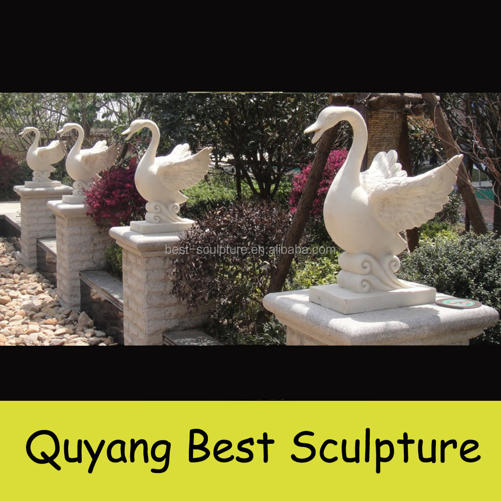 Outdoor Decoration Stone Duck Statues Garden Animal Sculpture
