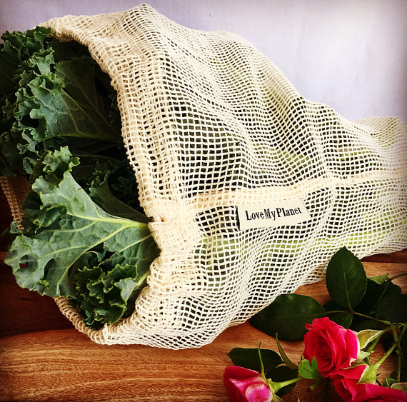 Hot sale factory price cotton mesh grocery bag for fruit and vegetable