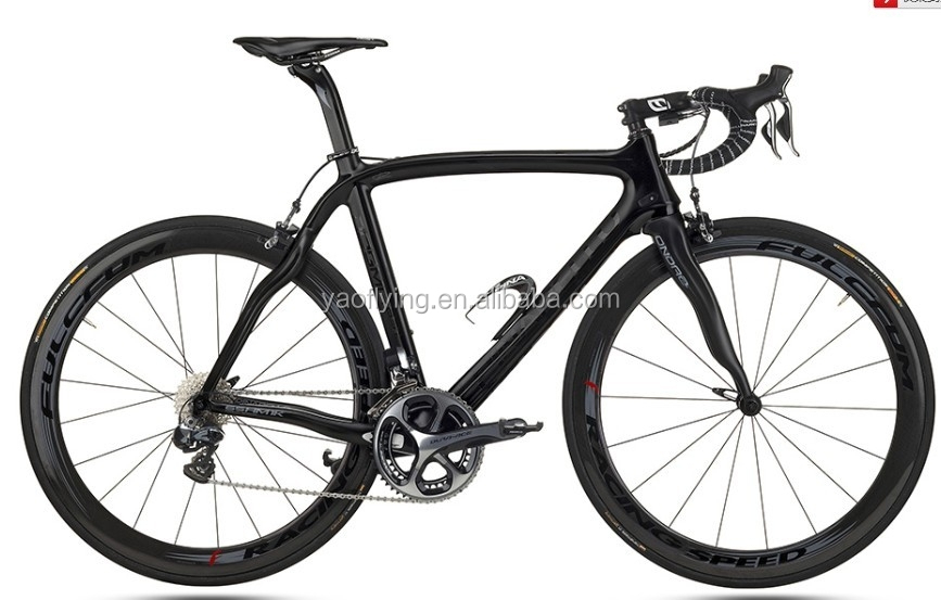 Full carbon road bicycle black color cheap complete carbon fiber road bike for racing