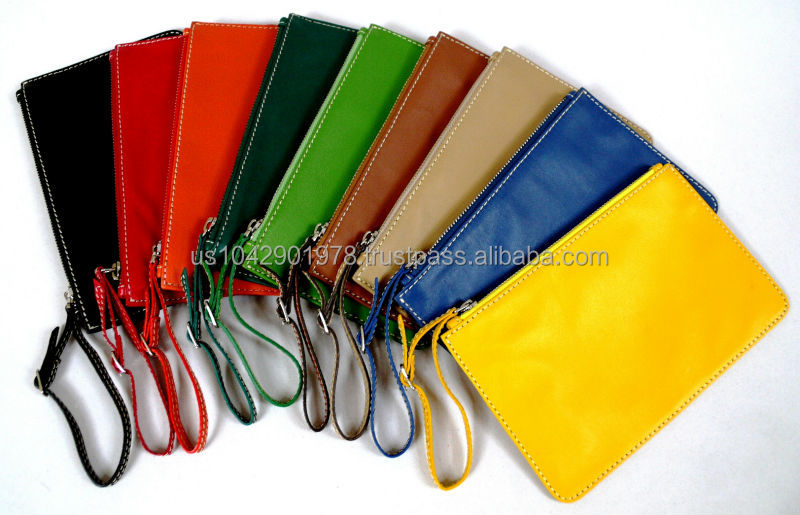 100% Handmade Genuine Ultra Soft Lambskin Leather Men Women Designer Pouch