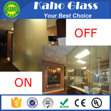 cheap tempered laminated smart privacy glass bathroom glass door