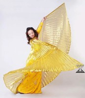 Gold Shinning large Belly dance costumes wings