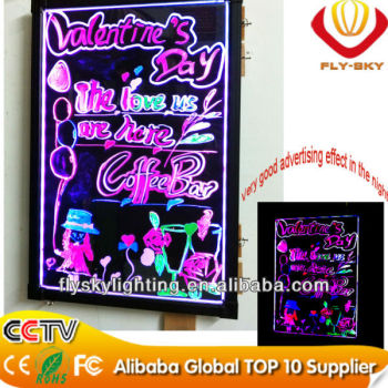 wow!!super bright high quality led write board with CE&ROHS Certificate Factory Direct and wholesale