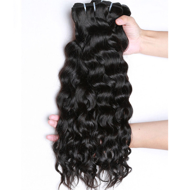 wholesale 7a grade 18 inches unprocessed virgin water wave Peruvian human hair
