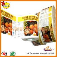 waterproof adhesive frozen food label for food packaging