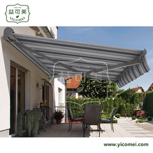 aluminum electric acrylic sunshade retractable awnings