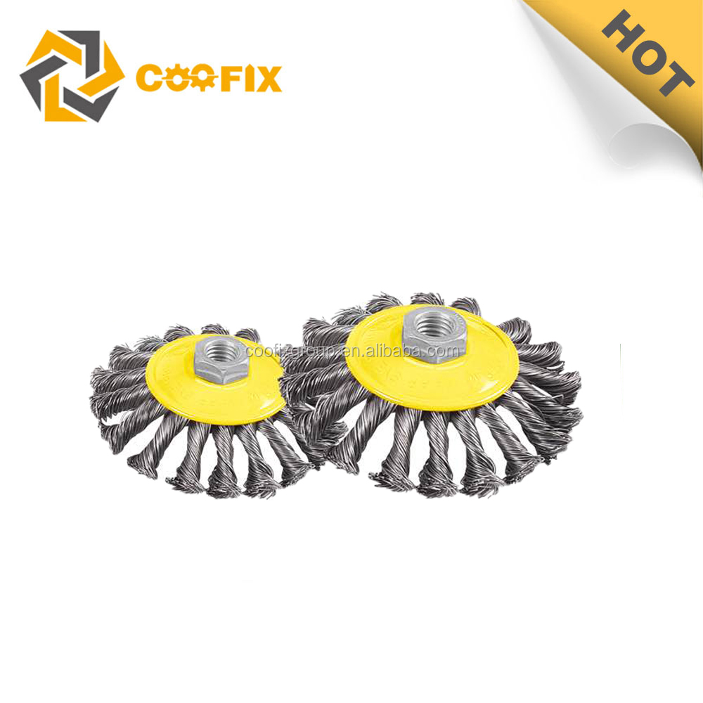 Coofix Twist knot steel wire bevel brush in good quality