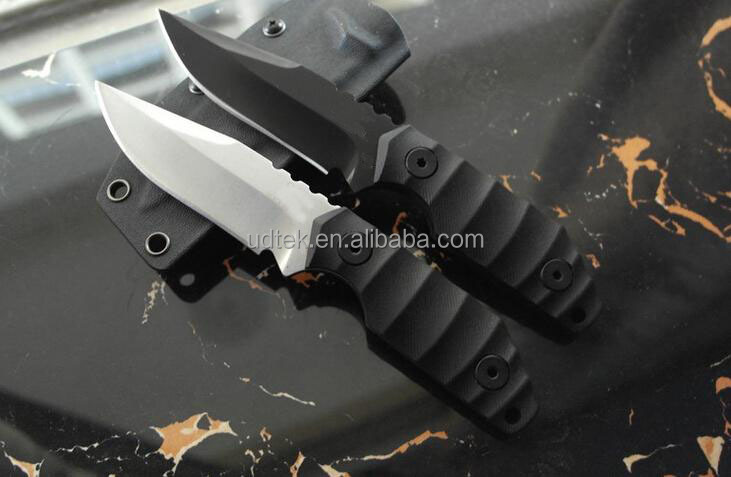 OEM 59-60HRC D2 hunting survival knife with Kydex sheath