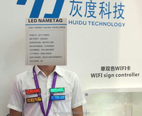 magnetic led staff name badges for showing text animation