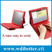 Folding PU Leather Folio Case Cover & Stand w/ Removable Bluetooth Keyboard For iPad