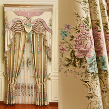 CT-1200-2 European luxury chenille curtains around the living room bedroom windows shading thick American customized