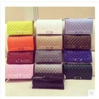New Product 2016 China Online Shopping Women Silicone Jelly Bag Crossbody Rubber Bag