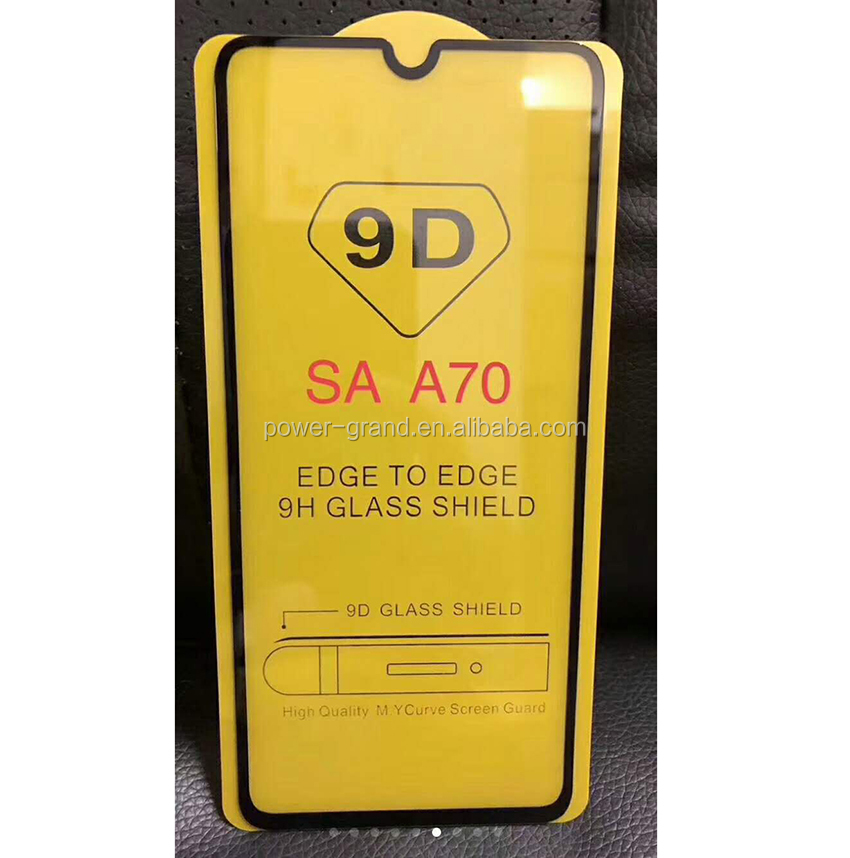 2nd time reinforcement Silk printing FULL Glue Tempered glass screen protector for Samsung Galaxy A70