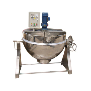 2018 on Sale 50L Industrial Electric Marmita Oil Jacketed Cooking Pot Steamer Kettle Gas Cooking Pot with Mixer