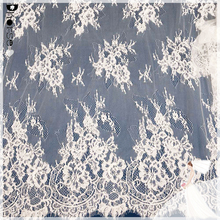 Good price DHJL1506 ivory corded french lace fabric wholesale, bridal lace fabrics