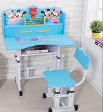 fancy wood high quality children desk and chair set for school and home wholesale