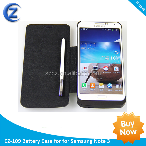 2014 New arrival external battery case for samsung galaxy note 3, 4200mah extended battery case for Samsung note 3