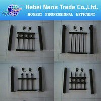New Canada designs steel fece panel / spear top black color fence /steel tube corral fencing panels