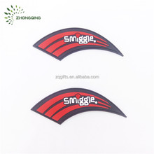 Custom bulk cheap PVC patches for schoolbag luggage cases with sewing lines