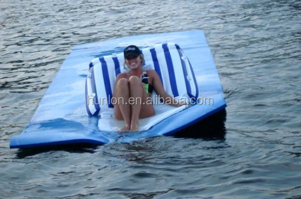 EVA foam customized floating water mat floating bed