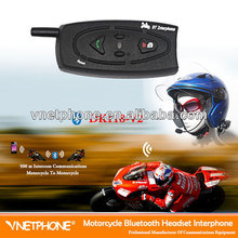 full duplex 500m motorhelm bluetooth headset/intercom