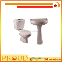 Twyford toilet and pedestak sink/ toilet in blue color/ sink and toilet unit