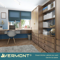 2018 Vermont White Lacquer Fancy T Shaped Office Desk