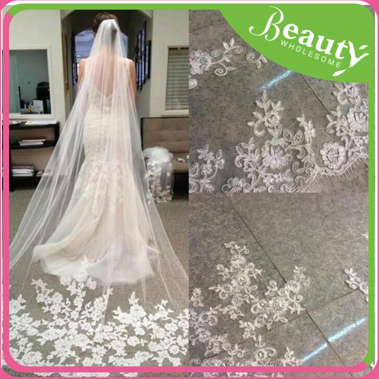 White lace fabric silk wedding veil ,h0tJA white long tulle veils for sale