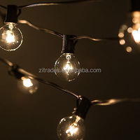 29foot G40 Globe Patio String Lights with 25 Clear Bulbs - UL Listed Perfect for Indoor / Outdoor