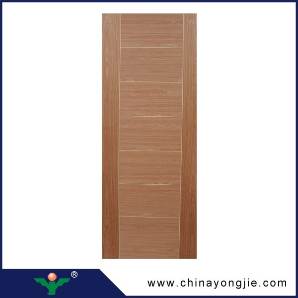 2016 China wholesale decorative interior wood <strong>veneer</strong> MDF door skin price