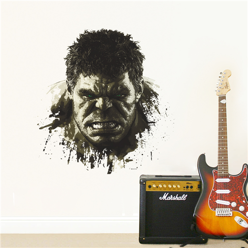 3D wall paper Colorcasa Gift new design Hulk wall sticker Marvel comic hero wall decal AUM004 home decor for nursery room