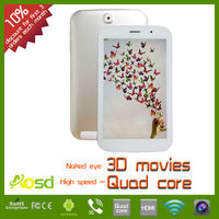 7 inch android 4.2 tablet pc, 1gb ram 8gb rom naked eye 3D screen mini pc quad core tab S731