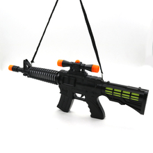 Newest design electroniic big size machine flash sound toy gun with for kids
