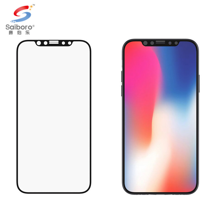 Saiboro privacy 9h retail tempered glass screen protector for iphonex