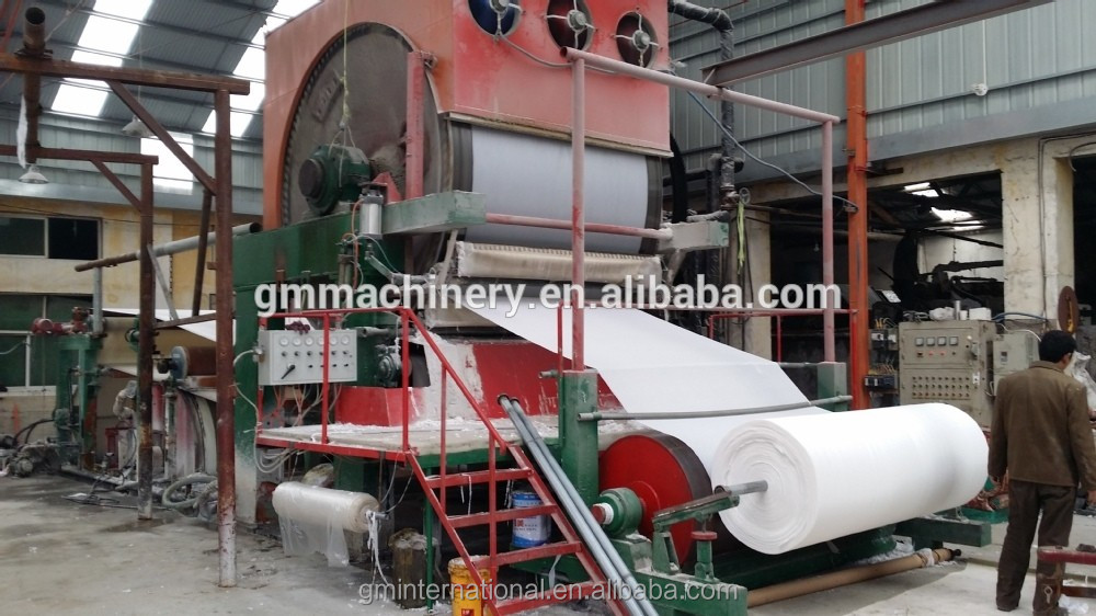 Full automatic used electric paper cutter,tissue paper making machine bathroom 1880mm tissue paper making machine